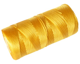 Crochet Cord, Nylon Thread 1 SPOOL, Micro Macrame Thread (not waxed) - Yellow