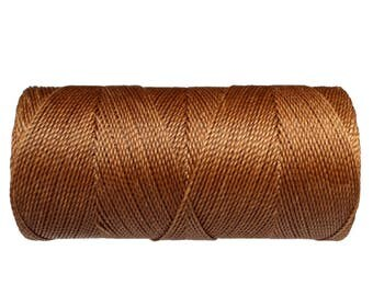 Waxed Cord, Macrame Jewelry, 15 meters/16 yards Cord for Leatherwork, Knotting String - Cafe Royale