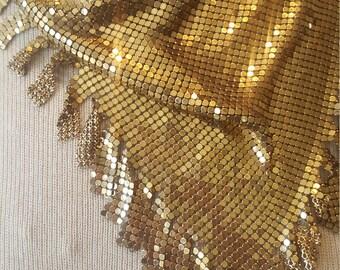 Vintage Gold Metal Mesh Choker