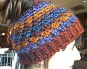Runners Hat-Bun Hat-Messy Bun Hat-Ponytail Hat-crochet runners hat-3 color choices!