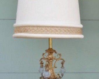 ON SALE Vintage Very Grand and Ornate Hollywood Regency Table Lamp Mid Century Modern