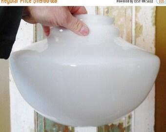 ON SALE Opal, Schoolhouse, Shade, Globe, Milk Glass, Light, Fixture, Glass, School House, Vintage, Hanging, Pendant, Ceiling, Lighting Parts