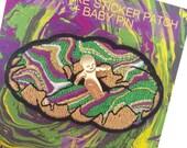 King Cake Patch + Baby Pin