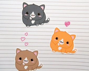 Chibi Tuxedo Cat Stickers and Magnets