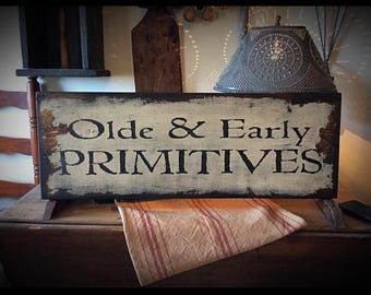 Hand Stenciled primitive theme sign