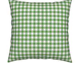 Gingham Green Pillow Cover