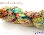 Colourful Sparkle Sock - Vanilla sprinkles cupcake silver