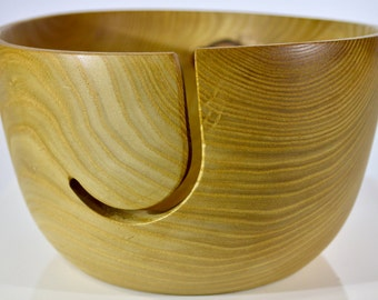 1043 Yarn bowl, made from figured Catalpa