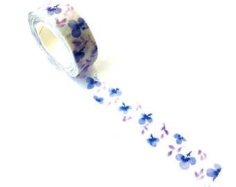 Washi Tape Blue Violets