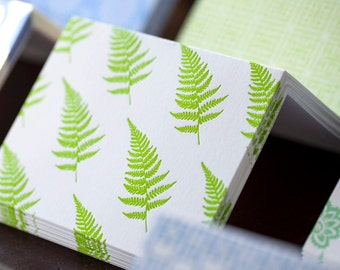 Ferns Letterpress Card Set