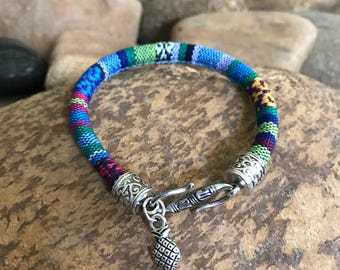 Woven cord pineapple bracelet by bohemian earth designs