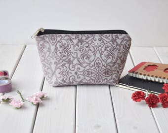 Purple make up bag, Cosmetic pouch, bag, Make up case, Charger case, Pencil pouch, Coin Purse, Toiletry bag, Makeup storage, Pencil case