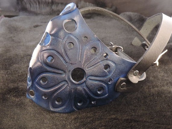 Blue Molded Leather Mask Muzzle