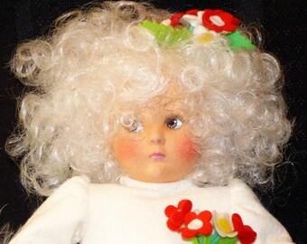 """1980's Anili 14"""" Felt Doll/ No COA"""