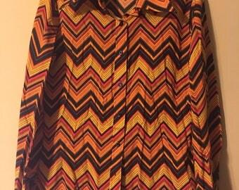 Retro Orange Button Down Shirt