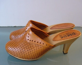 Vintage Diesse  Made in Italy Heeled Clogs Size 7 US
