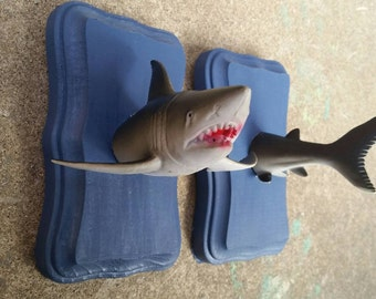 Handmade Shark Faux Taxidermy Mount Head and Tail Set 3x5 inches