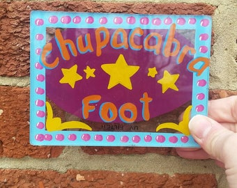 Vtg Freakshow Display Sign // Hand Painted Sideshow Art // Bizarre Collector Decor // Chupacabra