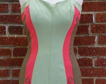 Reserved Wonderful Vintage 40s 50s Swimsuit // Sporty Retro Bathing Suit // Minty Color
