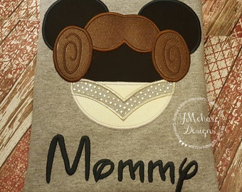 Princess Leia Inspired Mouse Custom embroidered Disney Inspired Vacation Shirts for the Family! 35