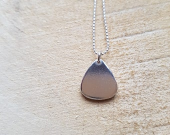 Guitar pick necklace Plectrum Necklace Pendant Mens Jewellery Silver Plectrum Necklace Boyfriends Gift Music Lover
