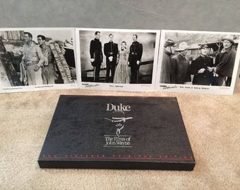 3 Great VHS Videos--Duke, The Films Of John Wayne in Gift Box w/ Studio Stills