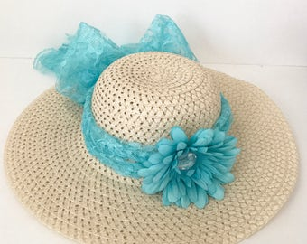 EASTER HAT, Sun Hat, Derby Hat, Wedding Hat