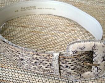 Woman's White Snakeskin Belt
