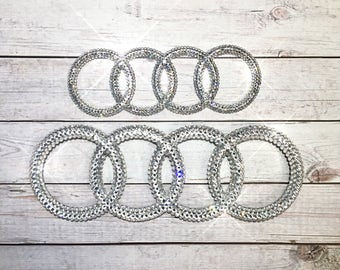 Bling car emblem- sparkly auto emblems- bling auto parts- bling car logos- bling audi logo- bling car accessories- custom car accessories-