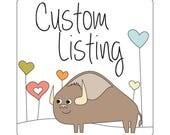 Custom Listing for Jilie