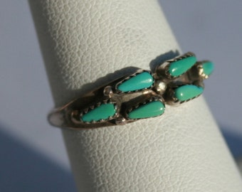 Vintage Turquoise Ring Sterling Silver