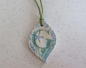 Ceramic Beachy Pendant