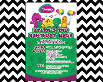Barney Party Etsy