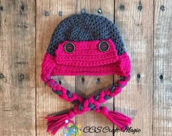 Bomber hat, crocheted