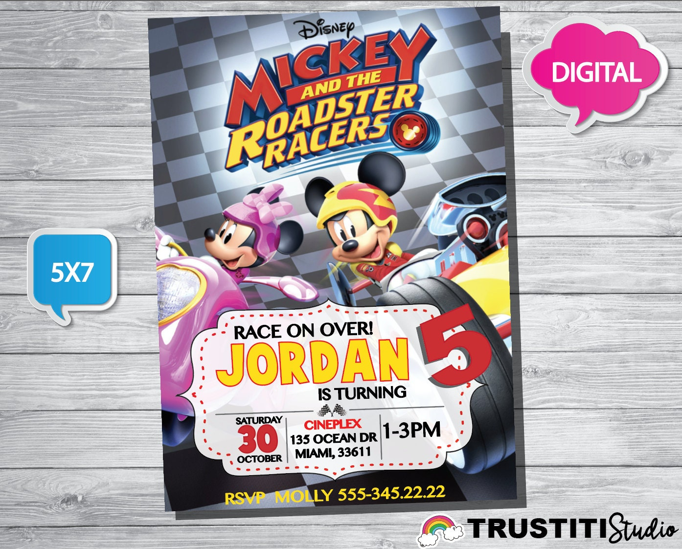 Design Your Own Home Online Nz Mickey And The Roadster Racers Invitation Mickey And The