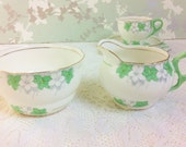 "Grafton ""Seaton"" Large Creamer and Sugar Bowl from the 1930s"