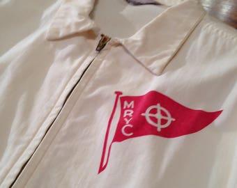 Vintage 1940's Tupelo Sportswear California Styled Yacht Club Short Twill Jacket