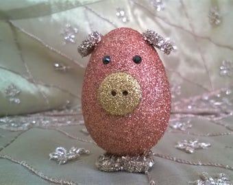 Copper & Gold Easter Egg Piggy
