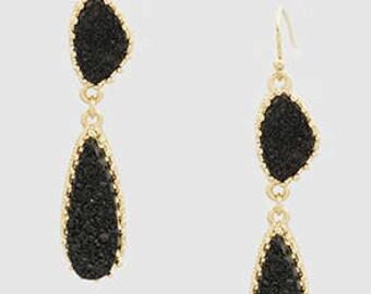 Druzy Dangle Earrings (3 Colors)