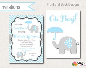 Baby Elephant Invitation