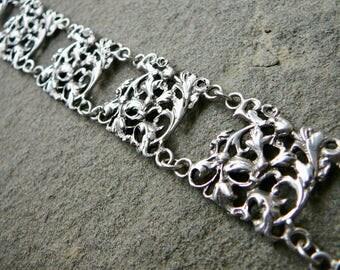 Peruzzi Bracelet, Peruzzi Jewelry, Italian Silver, Vintage Silver Bracelet, Renaissance Revival Jewelry, Fratelli Coppini, 800 Silver