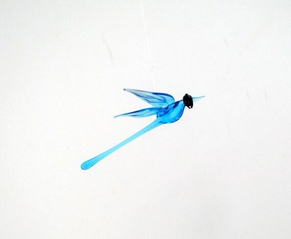 e36-142 Aqua Dragonfly Ornament