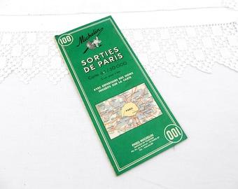 1972 Michelin Road Map of Paris and the Surrounding Area, French, Brocante, Parisian, Regions, Retro, Home, Interior, Collection, Michelin