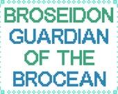 PDF PATTERN Broseidon guardian of the brocean cross stitch