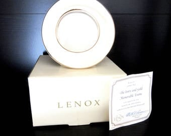 Lenox Photo Frame Ivory Fine China with 24k Gold Trim The Ivory & Gold Memorable Collection