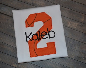 Personalized Basketball Birthday Shirt