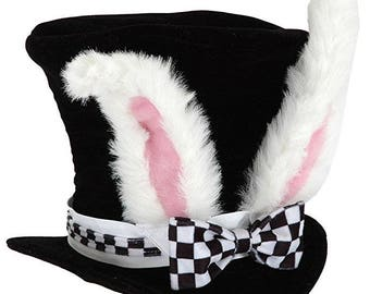 White Rabbit Hat Inspired by Alice in Wonderland