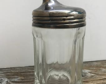 Vintage 1930's Thick Glass Pouring Sugar Container with Spout Restuarant Ware Mid Century