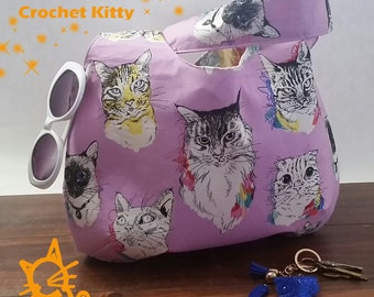 NEW at Crochet Kitty...Meow Wow Wow Hobo Purse