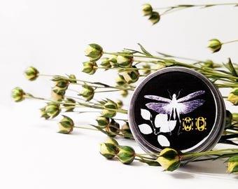 "Solid Perfume Tin ""Ambra"" Amber Natural perfume Solid Fragrance, Smoke and Woods, Resins, Amber Perfume cruelty free vegan, .14 grams"